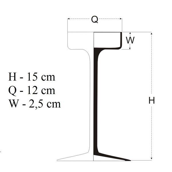 Świecznik z szeroką czaszą - 5 wysokości