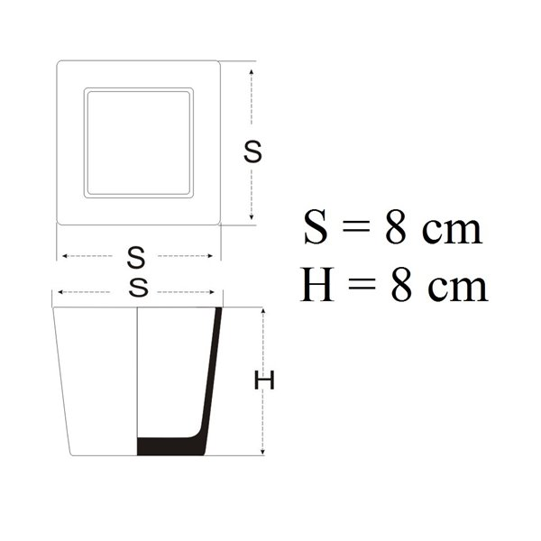 Pojemnik kwadrat 8x8x8