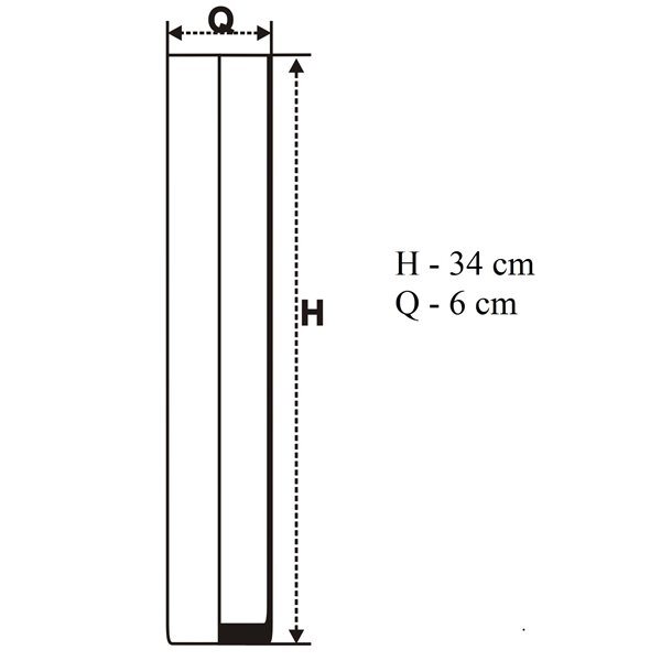 Tuba 34x6 cm