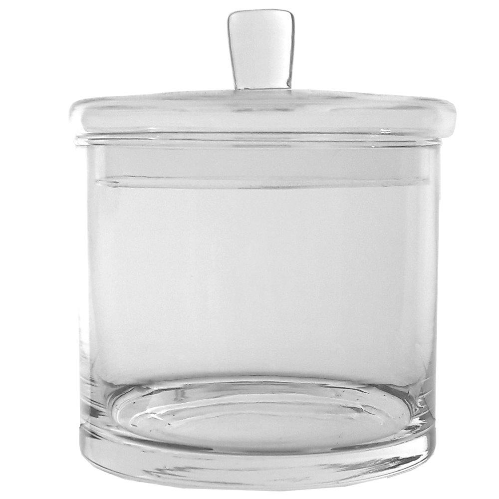 Szklana bombonierka z pokrywką