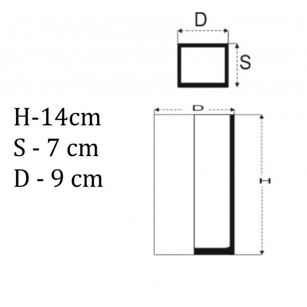 Wazon prostokąt 14 cm