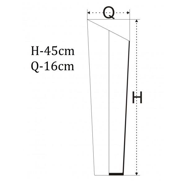 Tuba skos 45 cm