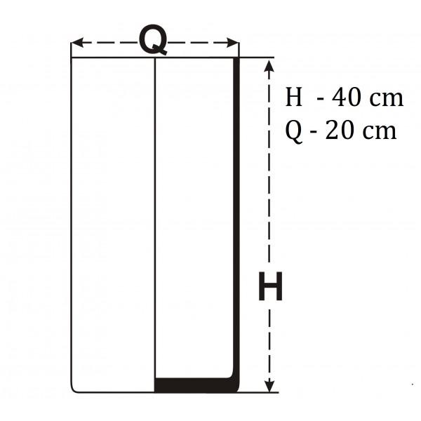 Tuba 40x20 cm