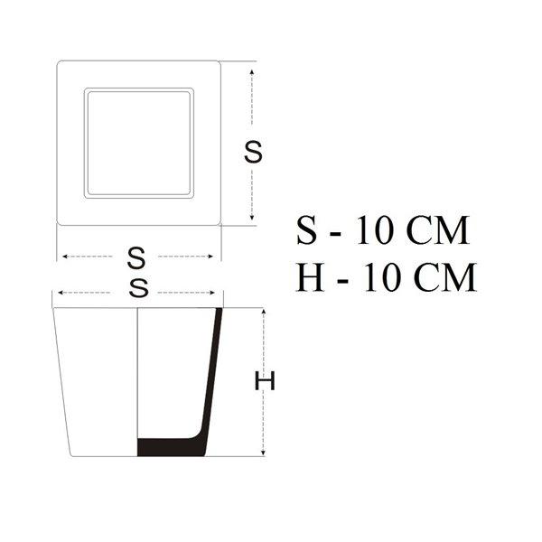 Pojemnik kwadrat 10x10x10