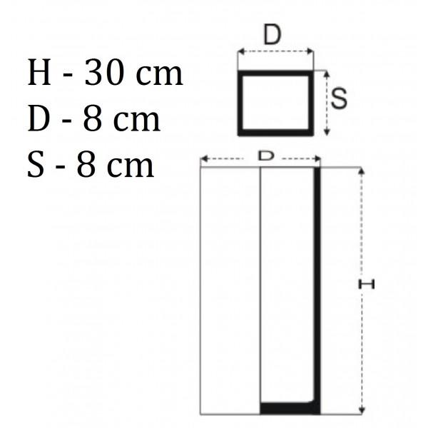 Wąski wazon prostokąt 30 cm