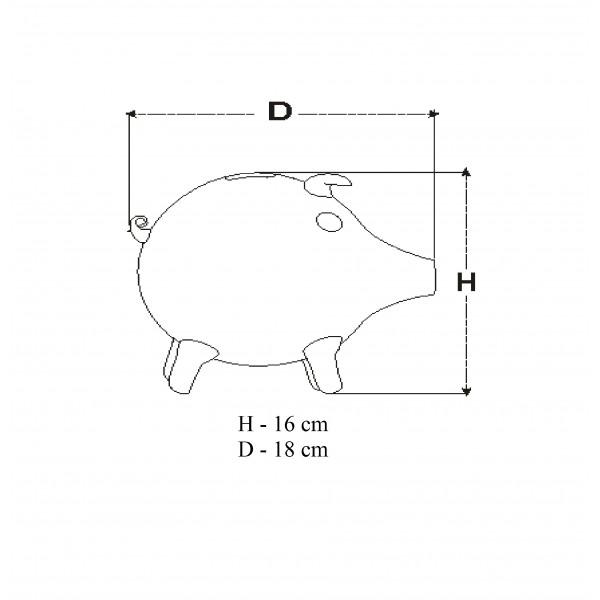 świnka skarbonka duża