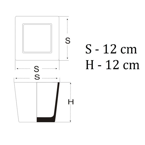 Pojemnik kwadrat 12x12x12