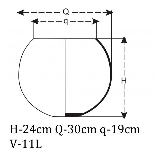 Kula wazon H-24 cm