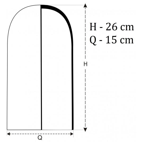 Wysoki szklany klosz/kopuła