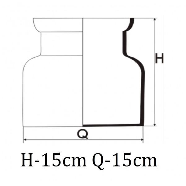 Słoik na aranżacje 15 cm