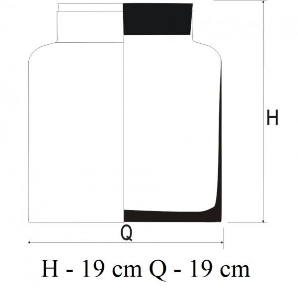 Słoik do aranżacji 19 cm