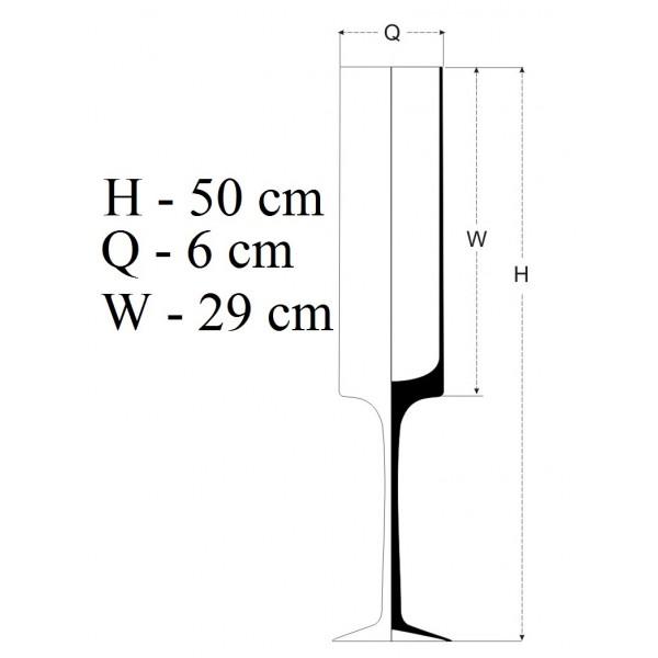 Świecznik z wysoką, wąską czaszą - 50 cm