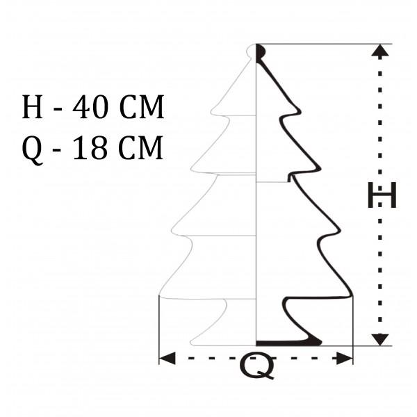 Bombonierka świąteczna choinka - duża