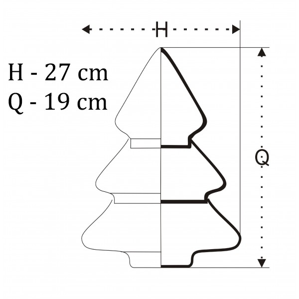Bombonierka choinka - 3 częściowa