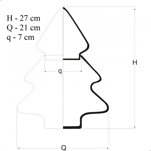 Bombonierka choinka - 2 częściowa