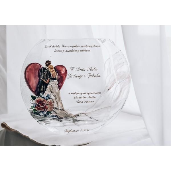 Ręcznie malowany wazon dla Młodej Pary