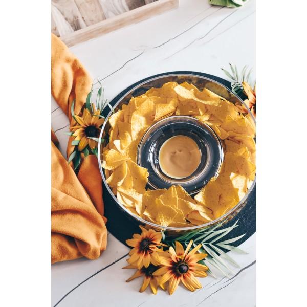 Salaterka na nachosy z miejscem na dip
