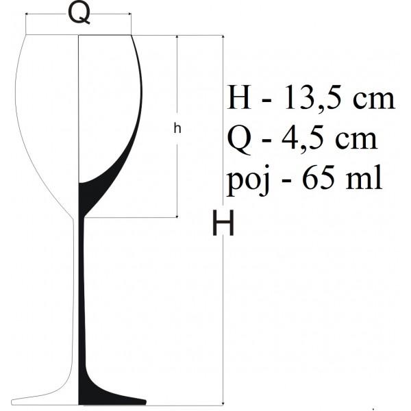 Zestaw ozdobnych kieliszków do nalewki/wódki