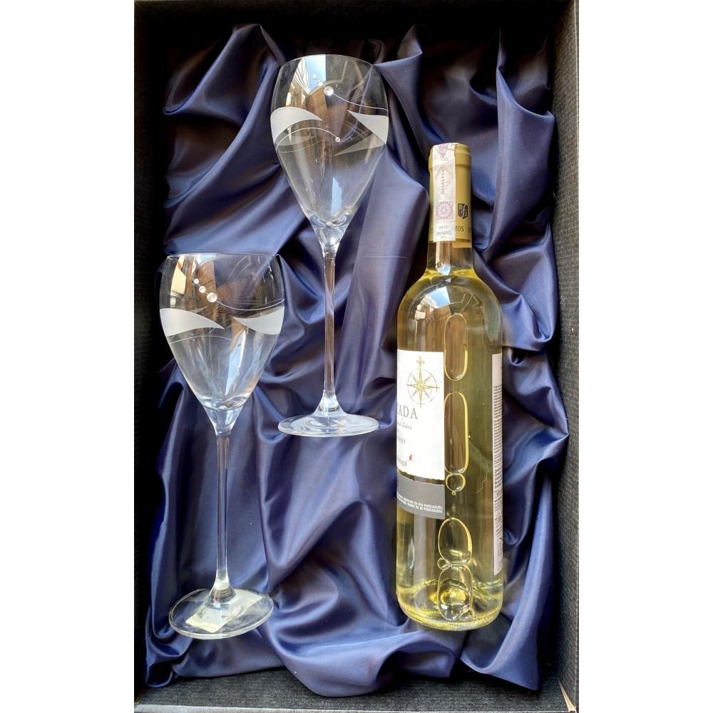Kieliszki do białego wina w prezentowym opakowaniu